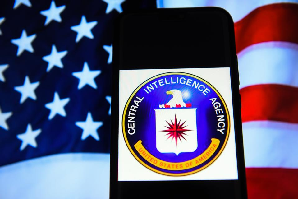 Central Intelligence Agency (CIA) logo is seen on an android
