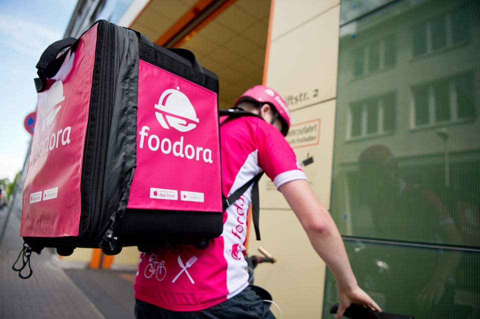 Foodora bike couriers