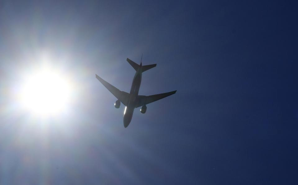 Airplanes on Approach to Newark Liberty Airport
