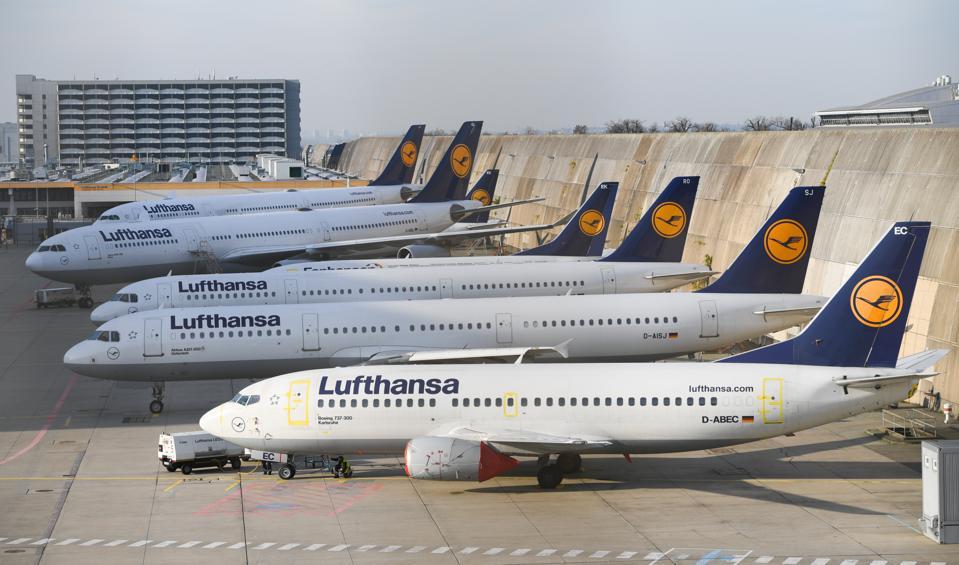Lufthansa pilots' strike in Frankfurt