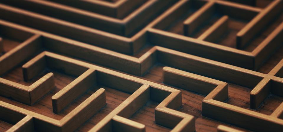 Full Frame Shot Of Wooden Maze