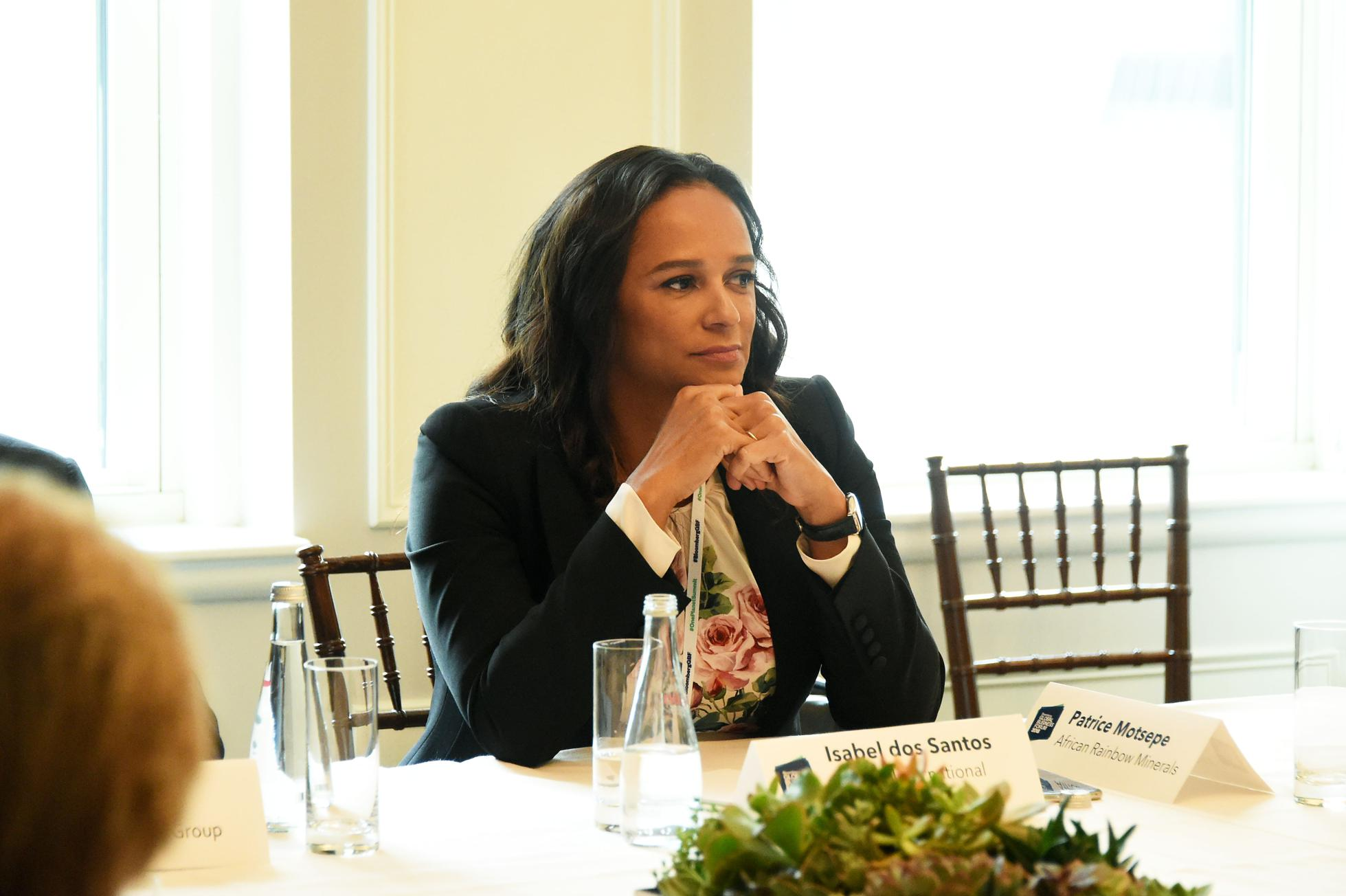 Isabel dos Santos At Roundtable Discussion On Business Evolution In Energy At Bloomberg Global Business Forum
