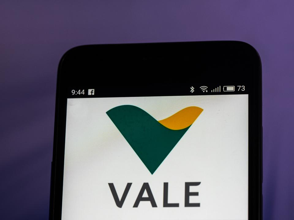 Vale S.A. logo seen displayed on smart phone. Vale S.A. is a
