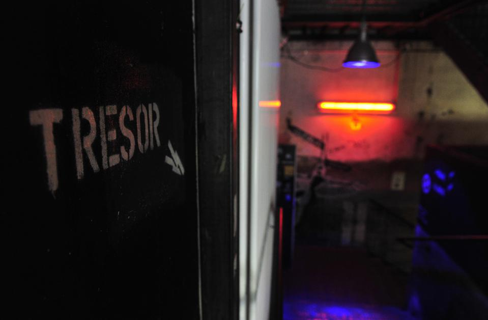 View of the entrance to the Tresor night