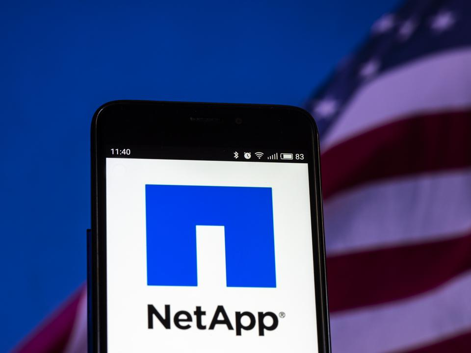 NetApp, Inc. logo seen displayed on smart phone. NetApp, Inc