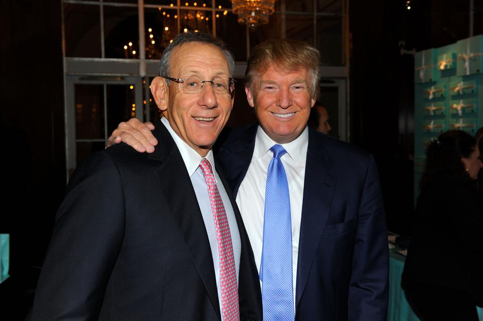 Stephen Ross and Donald Trump in 2010.