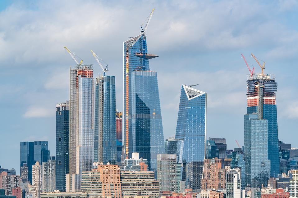 High Angle View of Hudson Yards - New York