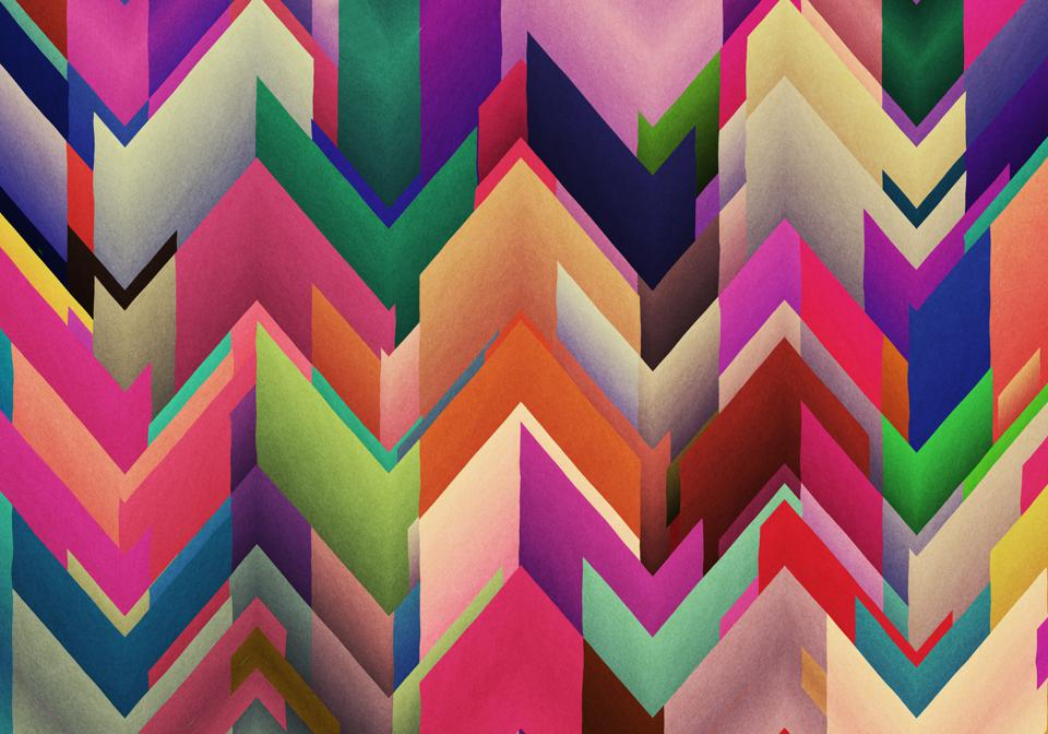 Chaotic Colorful zigzag abstract background