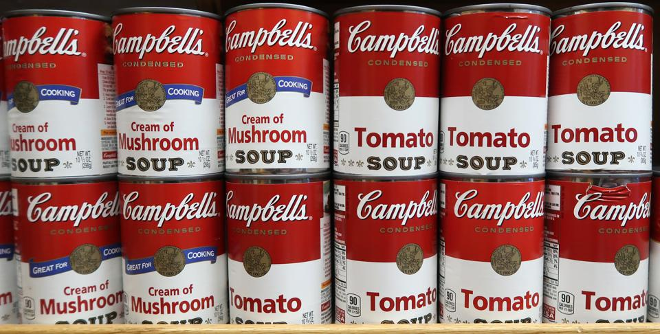 Campbell's Soup Cans in Grocery Store