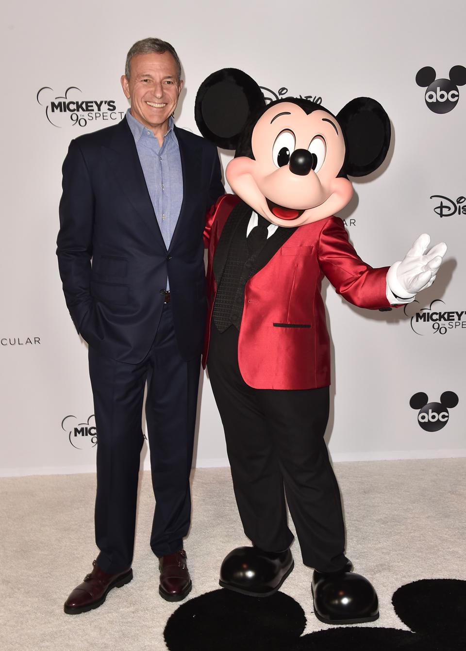 Mickey Mouse and Disney CEO Bob Iger.