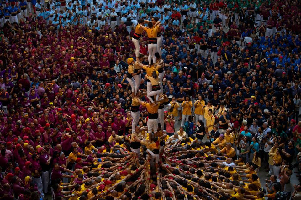 Human Towers competing at Tarragona Spain