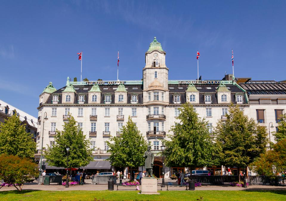 Grand Hotel Karl Johans gate Central Oslo Norway Scandanavia