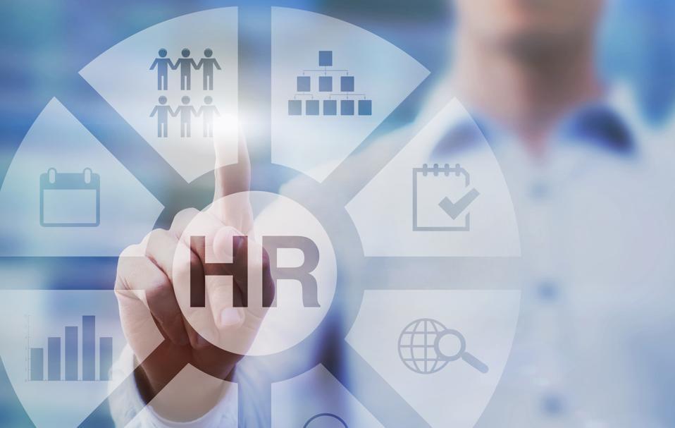 HR, human resources concept diagram