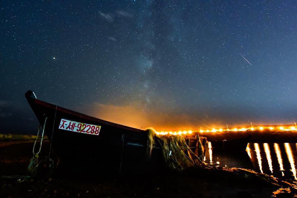Draconid meteor shower in Russian Far East