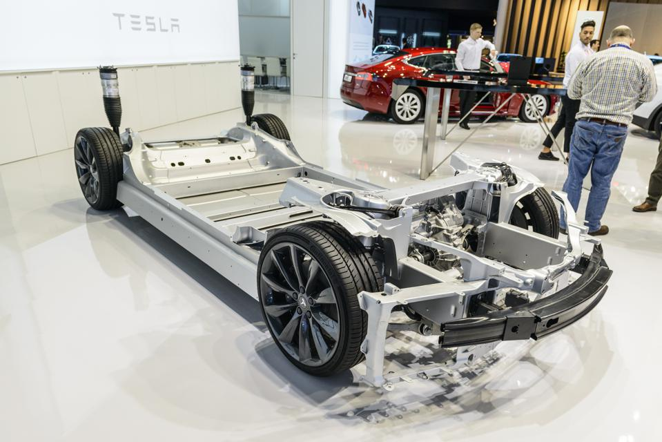 95th European Motor Show Tesla Chassis Battery