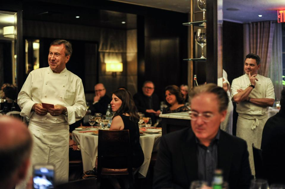 Chef Daniel Boulud photographed in the dining room at Cafe Boulud, on October 11, 2018. (Photo by Kris Connor/Getty Images for NYCWFF)