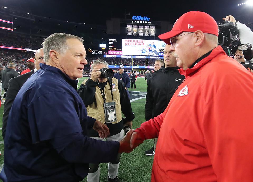 Kansas City Chiefs Vs New England Patriots at Gillette Stadium