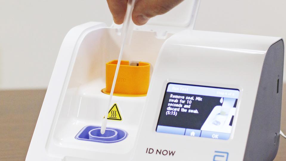 Abbott Inc., flu test manufacturer