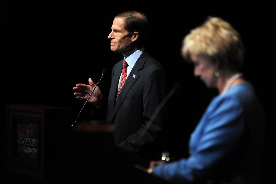 Senate Candidates McMahon And Blumenthal Hold Debate In Connecticut