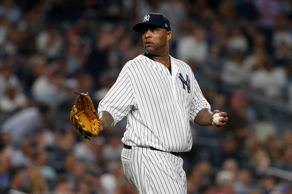 CC Sabathia in Game 4 of a divisional series against the Red Sox.