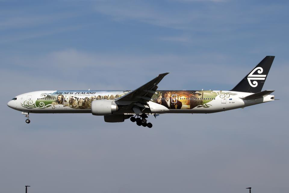Air New Zealand Boeing 777-300ER sporting The Hobbit special...