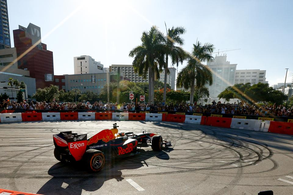 F1's plans for a race in Miami could be sent into a spin at a crucial vote today (Michael Reaves/Getty Images for Red Bull)