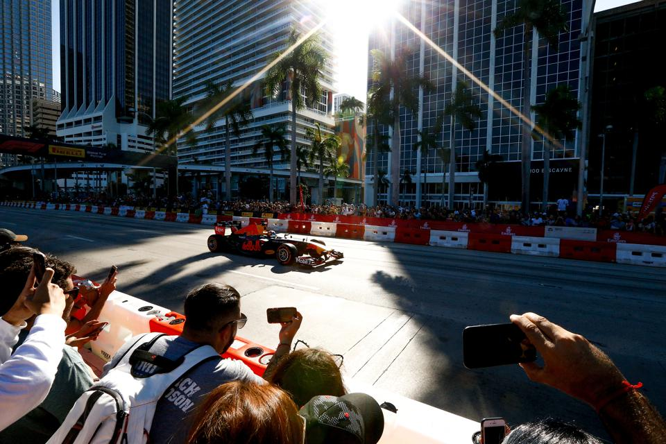 F1 held a demonstration on the streets of Miami in October and now it wants to run a race there (Michael Reaves/Getty Images for Red Bull)