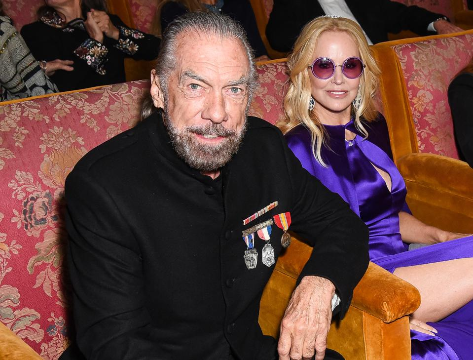 Patron tequila tycoon John Paul DeJoria and wife Eloise at Hearst Castle.