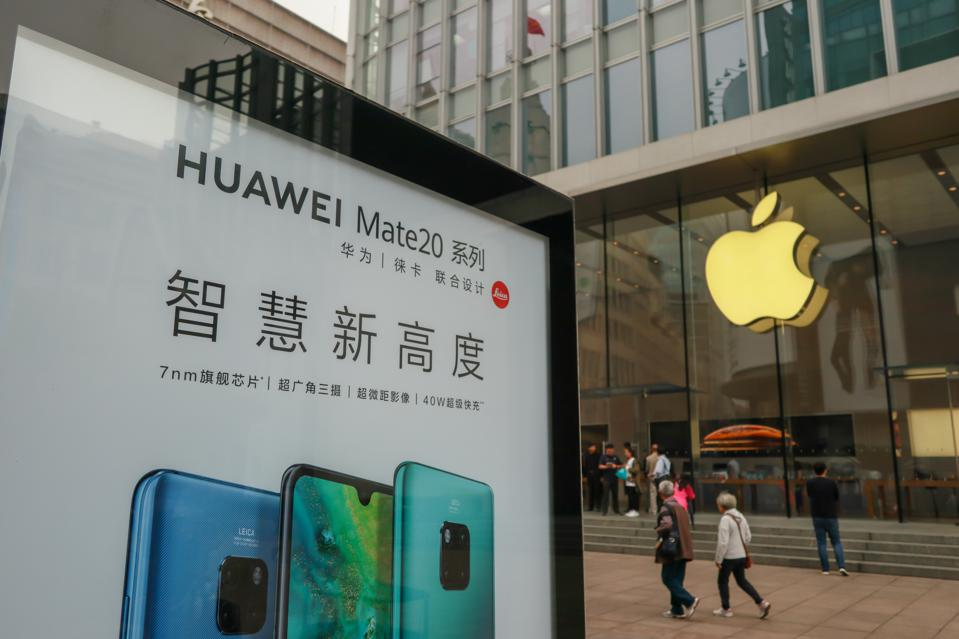 Apple iPhone sales are down sharply in China—again. And Huawei's strong surge in the market is to blame.