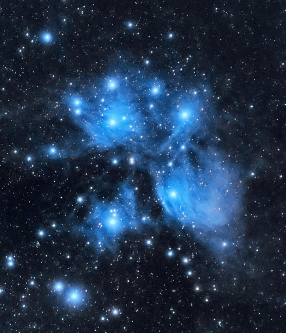 M45, Pleiades cluster or the seven sisters