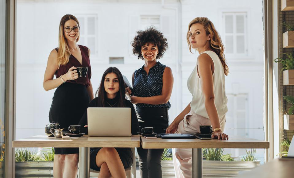 Portrait of multi-ethnic businesswomen together