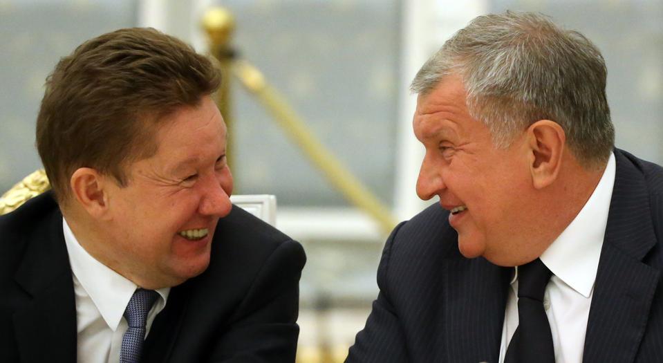 Russian President Vladimir Putin Receives German Businessmen at the Kremlin