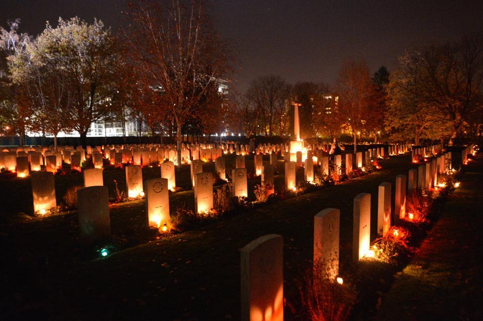 All Saints Day 2018 In Rakowicki Cemetery Of Krakow