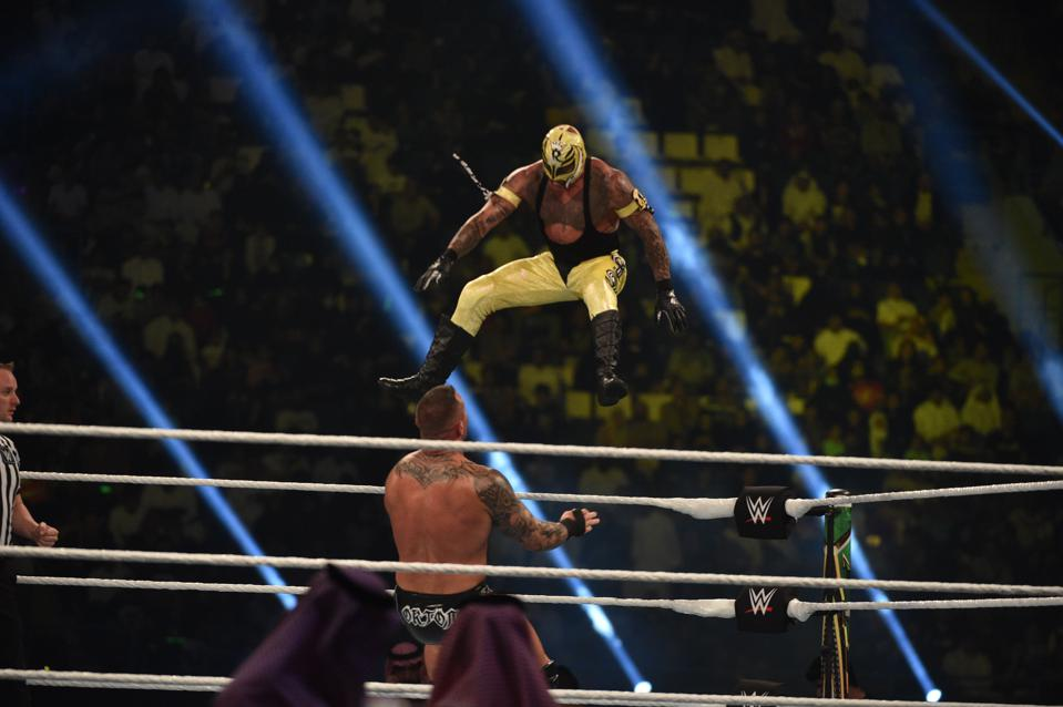 WWE star Rey Mysterio vs. Randy Orton