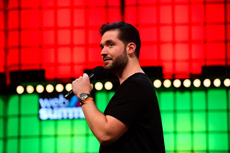Alexis Ohanian, cofounder of Initialized Capital speaking at Web Summit 2018, in Lisbon, Portugal