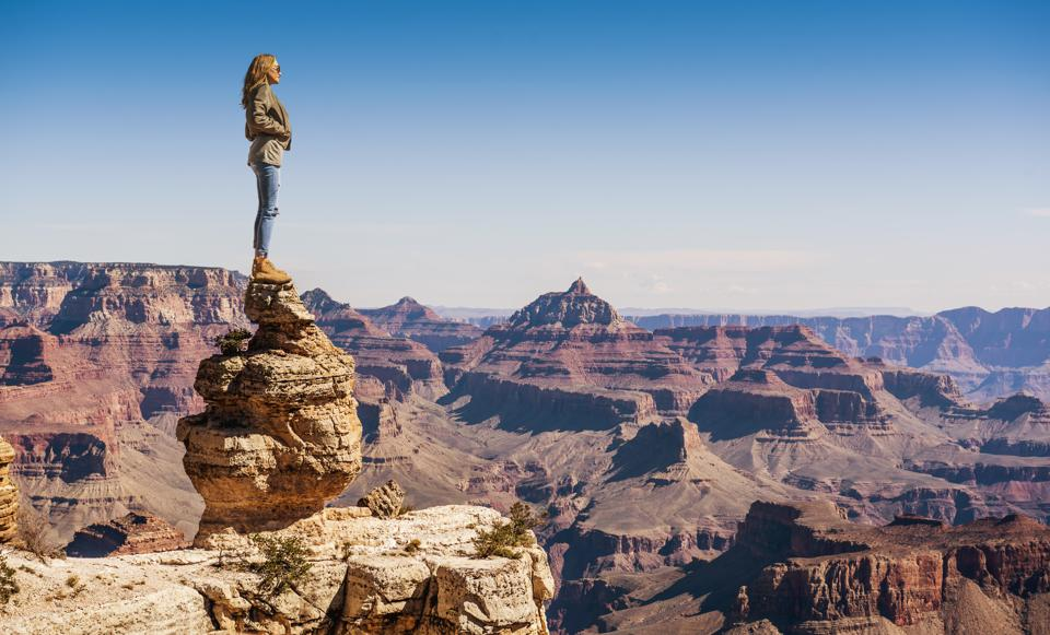 Young Woman at the Grand Canyon