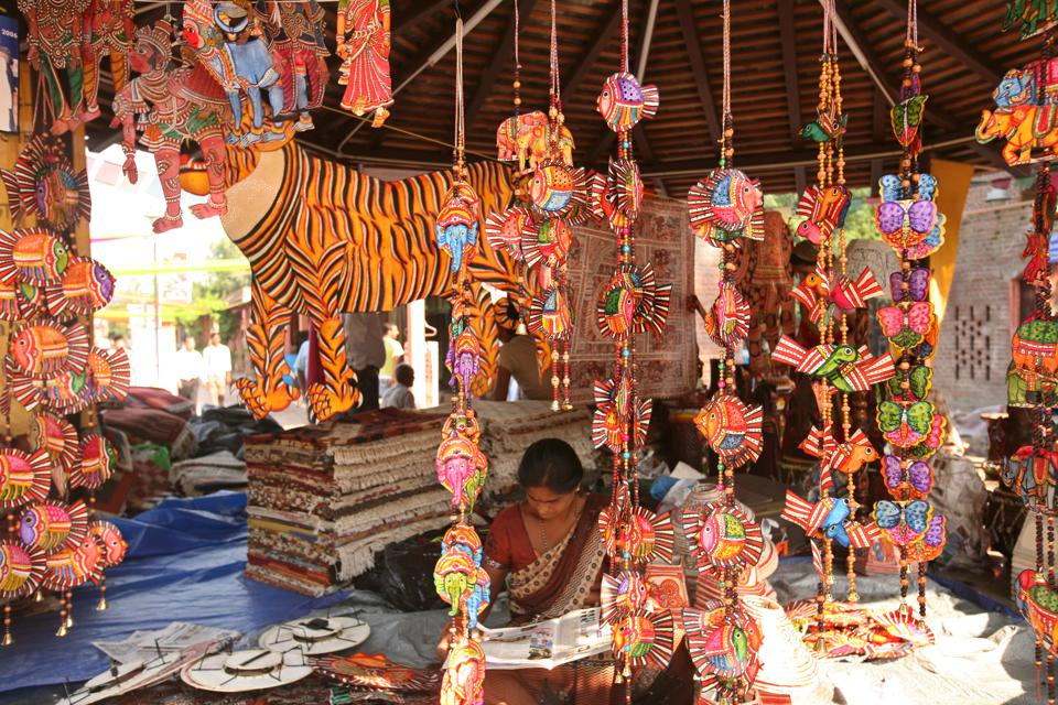 Products on Display At Dilli Haat