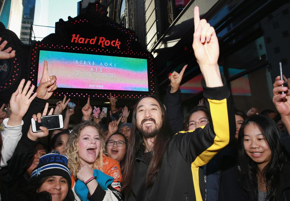 Steve Aoki Appearance At Hard Rock Cafe New York