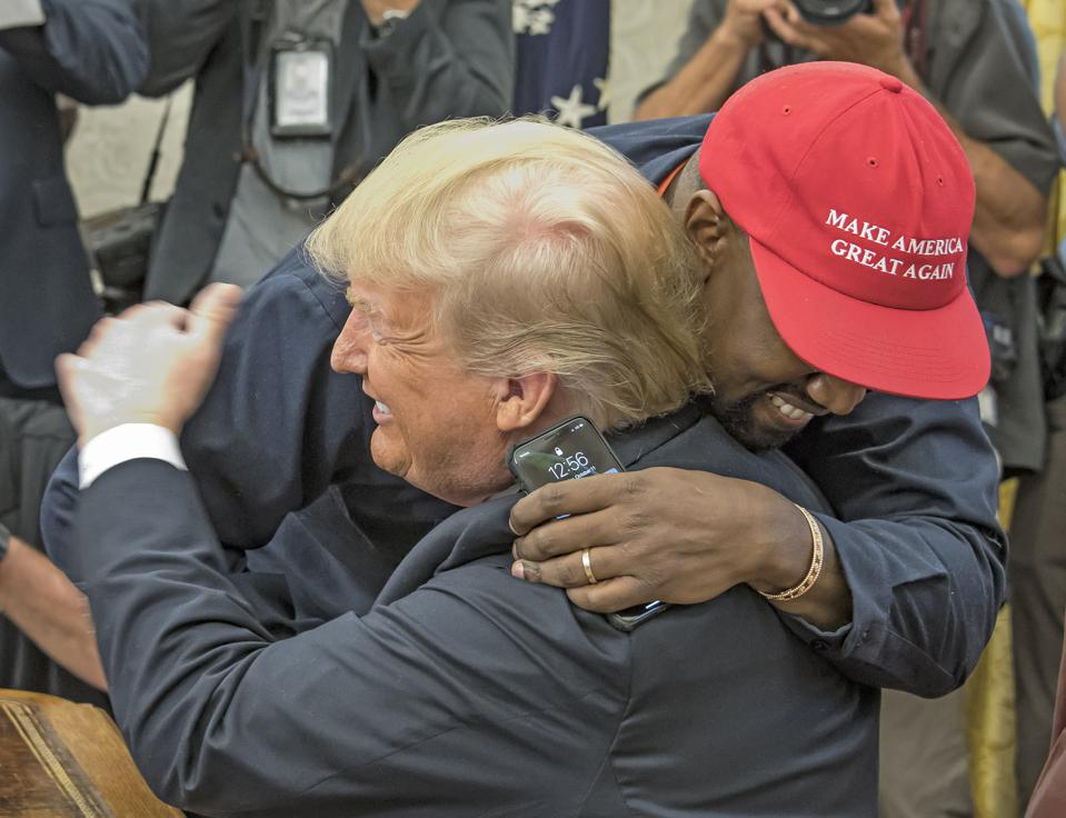 Trump with Kanye West