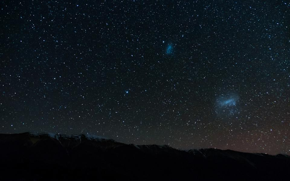 Amazing Starry night at Lake Rotoiti. Milky way and the galaxy. Nelson Lake National Park, New Zealand. High ISO Photography.