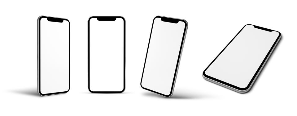 modern mobile isolated