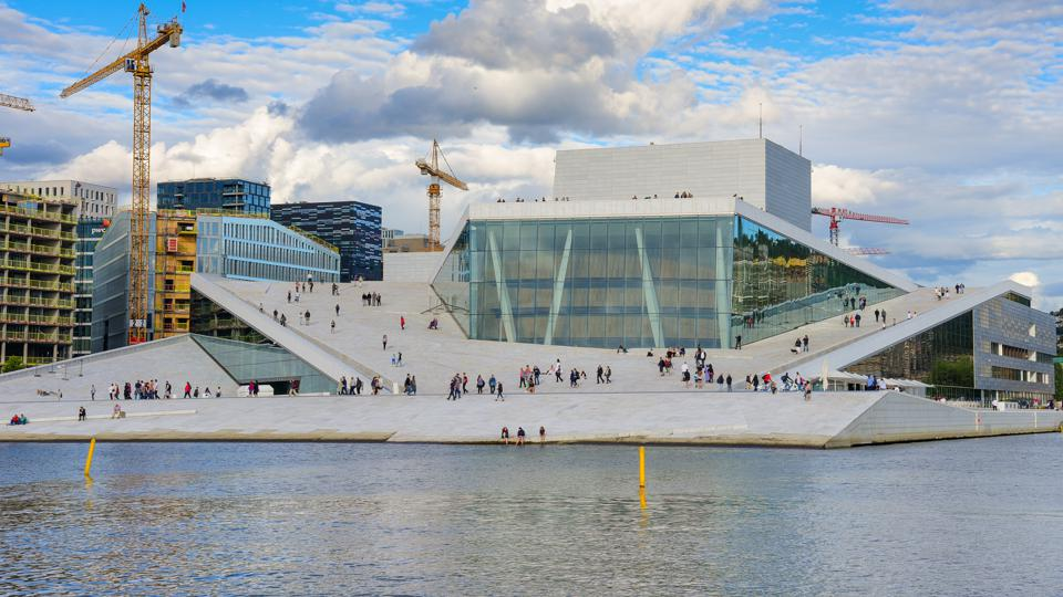 The Norwegian National Opera and ballet building in Oslo