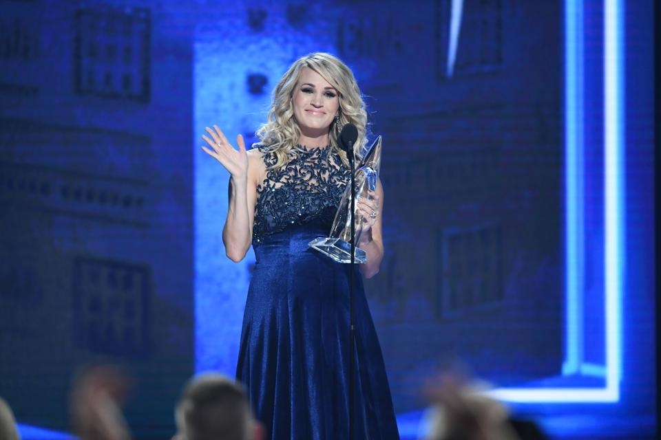 Carrie Underwood at the 52nd Annual CMA Awards