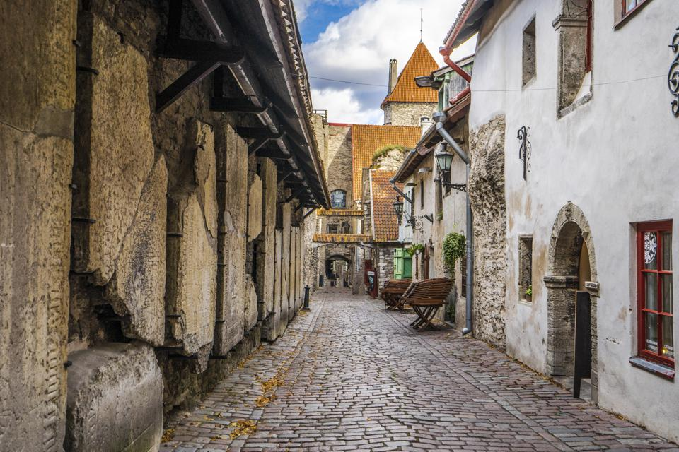 St Catherine's Passage, a famous street in Tallinn