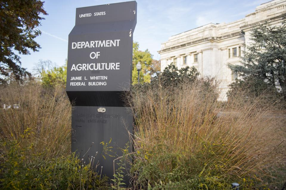 Department of Agriculture sign...