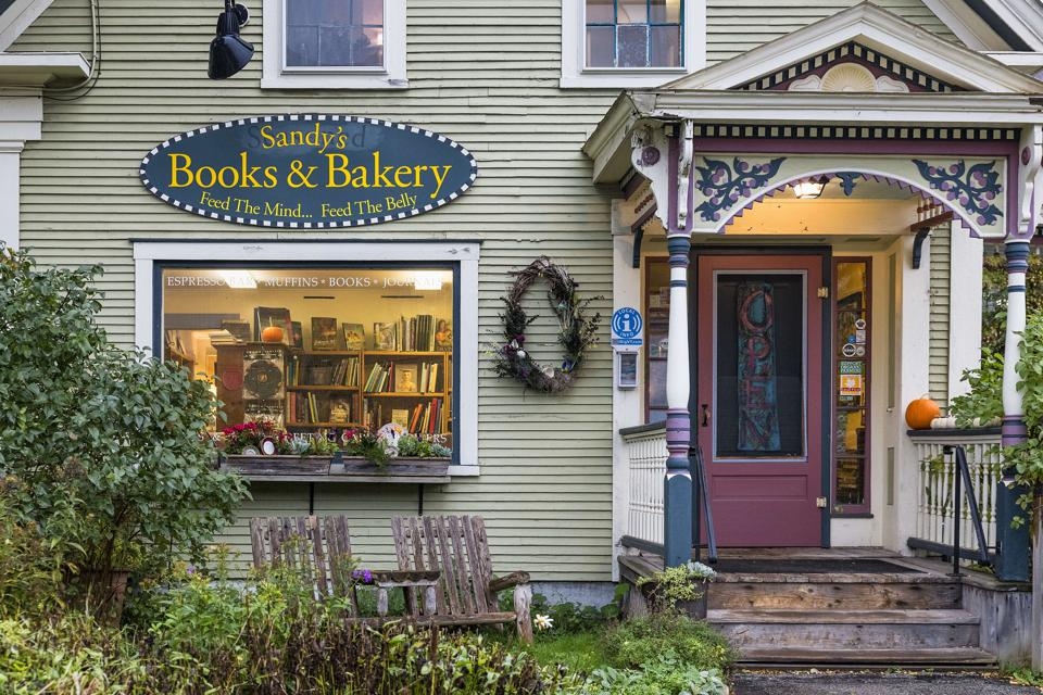 Charming local bookstore and bakery combination...