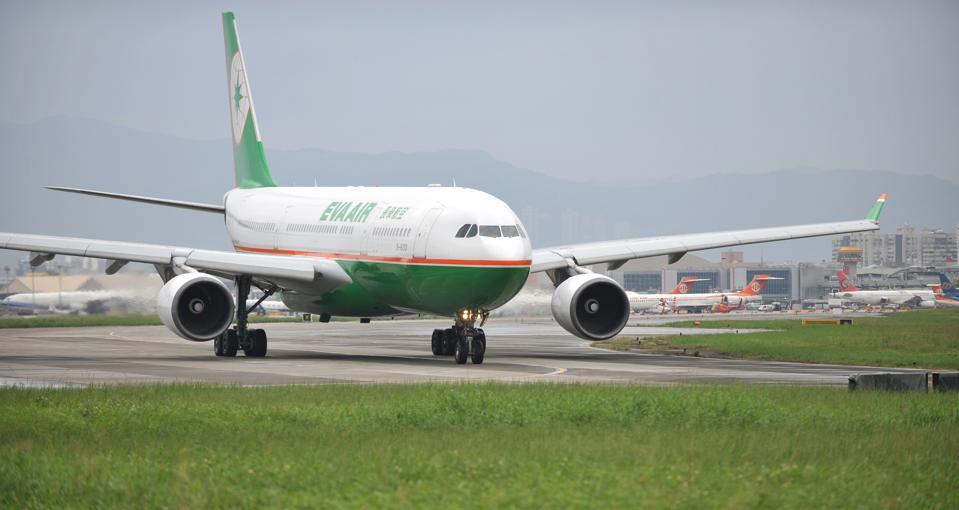 A passenger aircraft of Taiwan's EVA Air