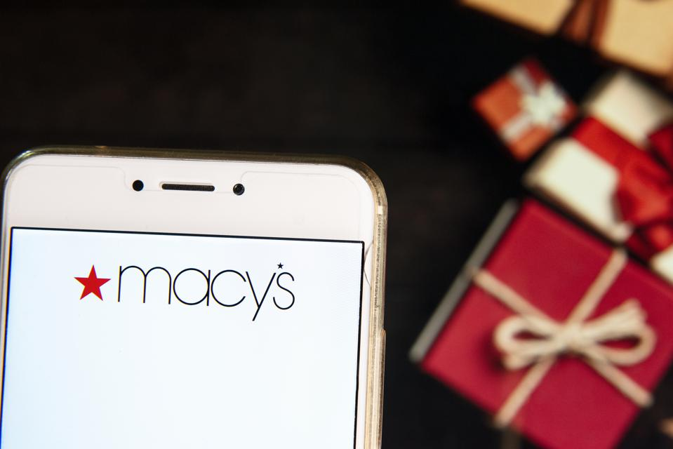 American department store chain Macy's logo is seen on an