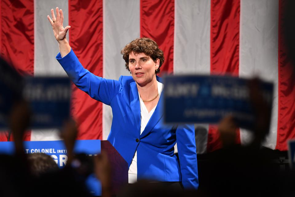 Democratic House Candidate In Kentucky Amy McGrath Holds Election Night Event In Richmond, Kentucky