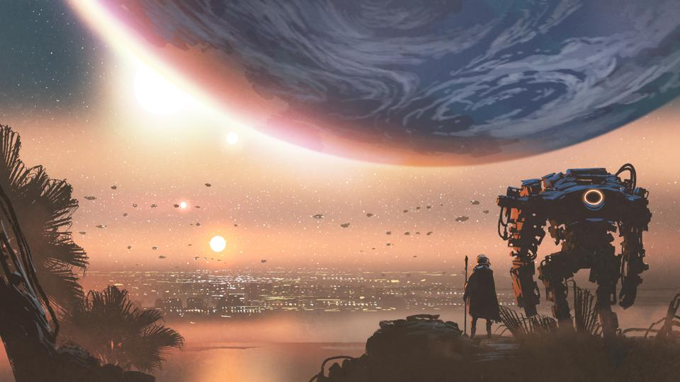 a new colony in the alien planet